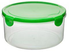 Cutie alimente rotunda 1L, verde