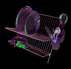 Uscator metalic pentru vase, telescopic, Cyclops