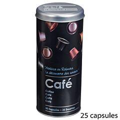 Cutie metalica pentru depozitare cafea 7.6x17.8 cm, negru
