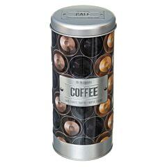 Cutie metalica pentru depozitare cafea 7.6x17.8 cm
