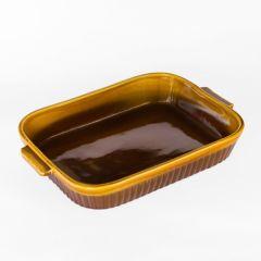 Tava Dreapta Ceramica 34X26 Cm, Maro