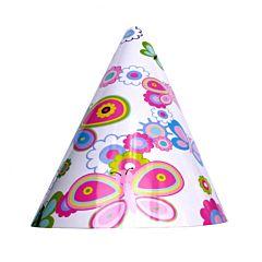 Set 6 coifuri party pentru copii, decor fluturi