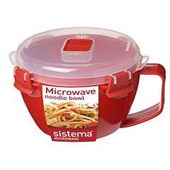 Bol plastic cu maner si capac microunde Sistema To Go 940 ml
