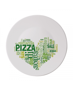 Platou Pizza Love 33 cm, verde