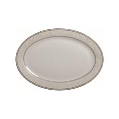 Platou de servire din portelan, 30 cm, Baron Silver