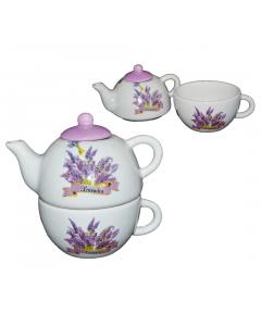 Set cana ceai + ceainic lavanda