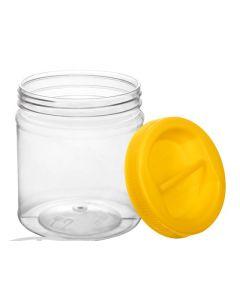 Borcan plastic cu capac 0.75 L