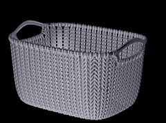 Cos depozitare multifunctional 8L, model KNIT, maro, Curver