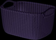 Cos depozitare multifunctional 8L, Knit, alb, Curver
