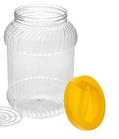 Borcan plastic cu capac 2 L