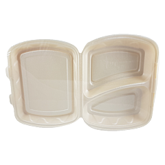 Caserole unica folosinta 2 compartimente, set 10 bucati