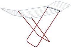 Uscator de rufe Vanora, otel vopsit, 180x45x97 cm, Alb/Rosu
