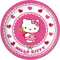 Set 8 farfurii party 20 cm Hello Kitty