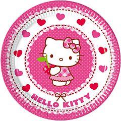 Set 8 farfurii party 20 cm Hello Kitty