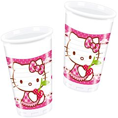 Set 8 pahare 200 ml party Hello Kitty