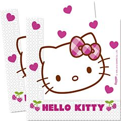 Set 20 servetele party Hello Kitty, 33 x 33 cm