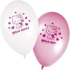 Set 8 baloane party Hello Kitty