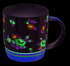 Cana 340 ml, amestec culori flori, nbc