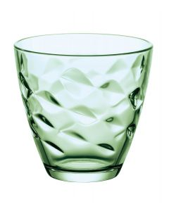 Set 6 pahar apa/suc Flora, verde, Bormioli