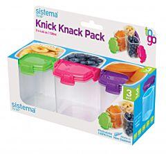 Set 3 cutii alimentare color 138 ml, To go Sistema