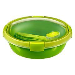 Cutie alimente 1,0L cu tacamuri, forma rotunda, plastic, verde, SMART TO GO, CURVER