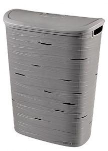 Cos depozitare rufe 49L model Ribbon, 45.7x59x27.3cm, plastic, culoare gri, Curver