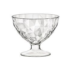 Cupa desert Bormioli Diamond JR, sticla, 220 ml, Transparent