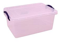 Cutie depozitare transparenta + capac, 10 L