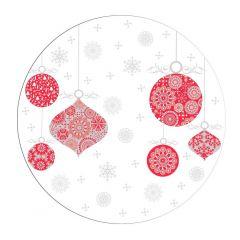 Farfurie intinsa design globuri, 25.5 cm, portelan