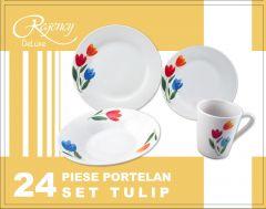 Set vesela 24 piese, Tulip