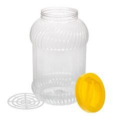 Borcan plastic, capac cu maner 3 L