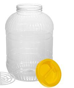 Borcan plastic, capac cu maner 8 L