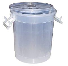 Butoi cu deschidere larga, polipropilena, 20 L, Alb/Transparent