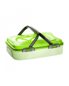 Dolce cutie cu maner transport prajituri, verde