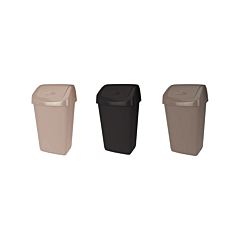 Cos de gunoi cu capac batant, plastic, capacitate 9l
