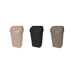 Cos de gunoi cu capac batant, plastic, capacitate 15l
