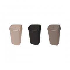 Cos de gunoi cu capac batant, plastic, capacitate 50l