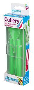 Set tacamuri din plastic Cutlery Sistema