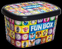 Cutie depozitare cu capac 25 L, Fun Box