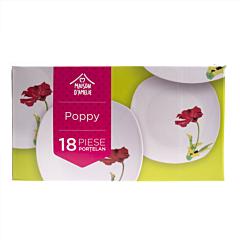 Set vesela 18 piese Poppy, Maison D'Amelie