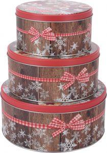 Set 3 cutii metalice rotunde Cookie