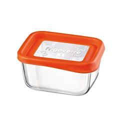 Caserola 0.4 L dreptunghiulara 13x10 cm Frigoverre Fun, portocaliu, Bormioli