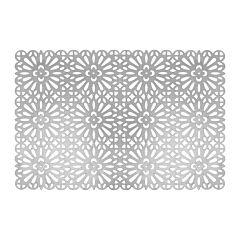 Suport de farfurii din PVC 30X45 cm argintiu ,Glamour