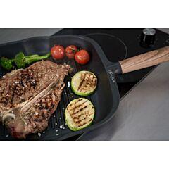 Tigaie grill aluminiu 28 cm, Chef Sorin Bontea