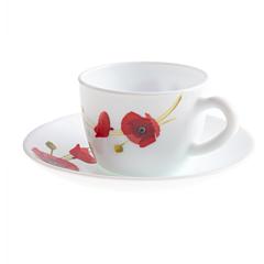 Set opal cafea 6 piese RED CARNATION, Maison d'Amelie