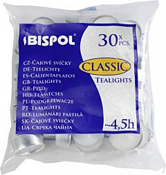 Lumanare tip Pastila P15-30 BISPOL 30buc.