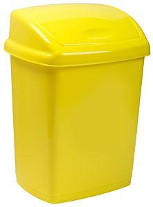 Cos gunoi cu capac batant 27 L, galben