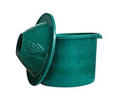 Cos pentru damigeana 50 L, cu manere, polipropilena, Verde