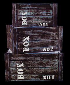 Set 3 cutii lemn Loft, Heinner