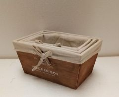 Set 3 cutii lemn Maro, Heinner